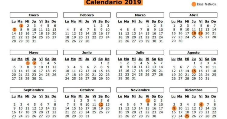 Calendario Chile 2019.28 Calendarios 2019 Imprimibles Para Descargar