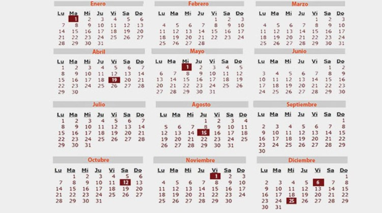 28 calendarios 2019 imprimibles para descargar for Calendario eventos madrid