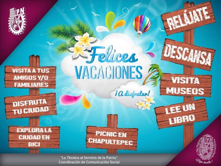 Felices Vacaciones ‿ : Frases imágenes mensajes