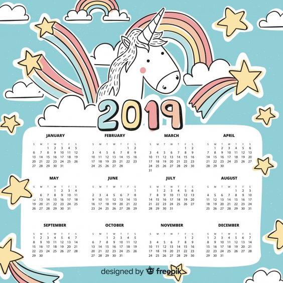 Calendario Colombia 2019 Para Imprimir.Calendario 2019 Para Ninos