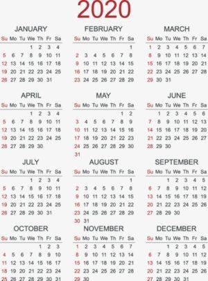 Calendario Escolar 2020 Argentina Para Imprimir.Imprimir Calendario 2020